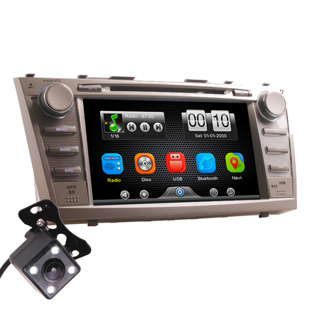 2Din Car In Dash DVD Head Unit Stereos with Reverse Camera for Toyota Camry 2007-2011 (Without GPS)