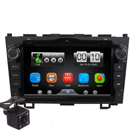 2Din Car In Dash DVD Head Unit Stereos with Reverse Camera 4 Honda CRV 2007-2011 (Without GPS)