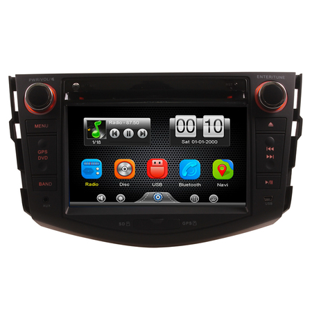 2Din Car In Dash DVD Head Unit Stereos with Reverse Camera for Toyota RAV4 2007-2011 (Without GPS)