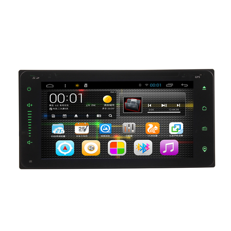 6.95 Inch Quad Core 2DIN Android OS Car Dash Player GPS WIFI   for Toyota Corolla EX