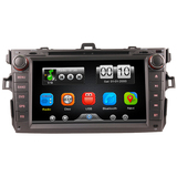 2Din Car In Dash DVD Player GPS Navigator with Reverse Camera for Toyota COROLLA 07-11