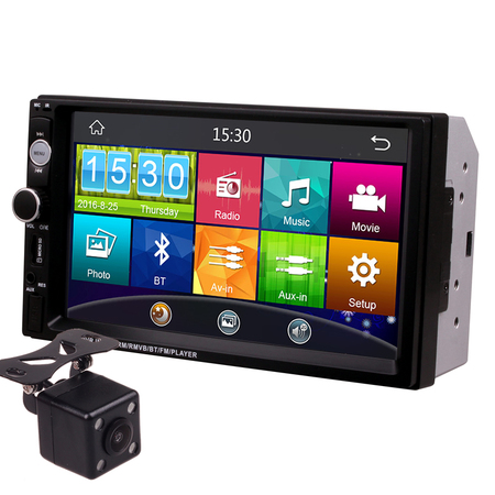 7 Inch Touch Screen 2Din Universal 12V 24V Car Truck Bus Van In Dash Media Player Head Unit Stereos