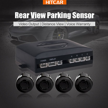 Rear Radar Visible Parking Sensor with Video Output for Car Monitor DVD - Voice Warning