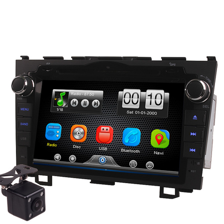 2Din Car In Dash DVD Head Unit Stereos with Reverse Camera for Honda CRV 2007-2011