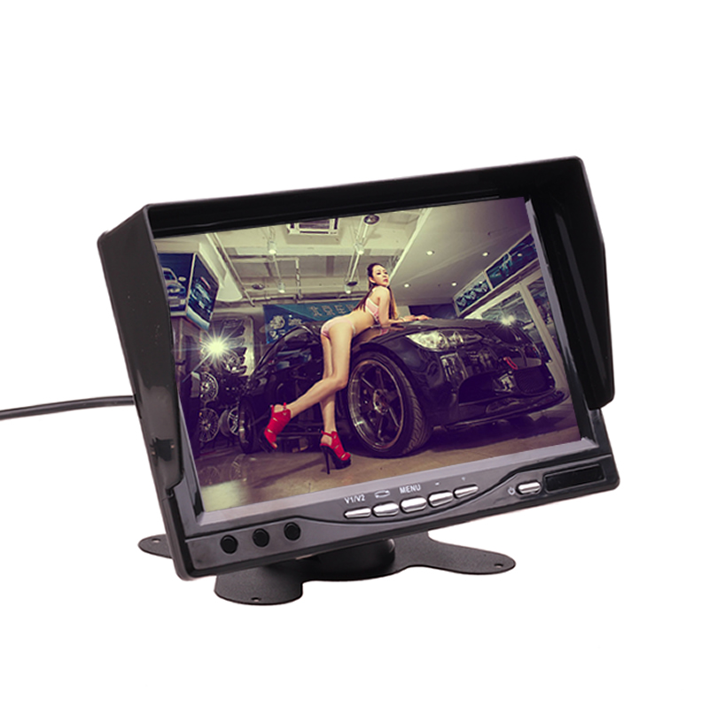 Car Dash Stand 12V 24V 7 Inch HD LCD Parking Monitor Camera Kit Combo for Car Truck Bus Home CCTV
