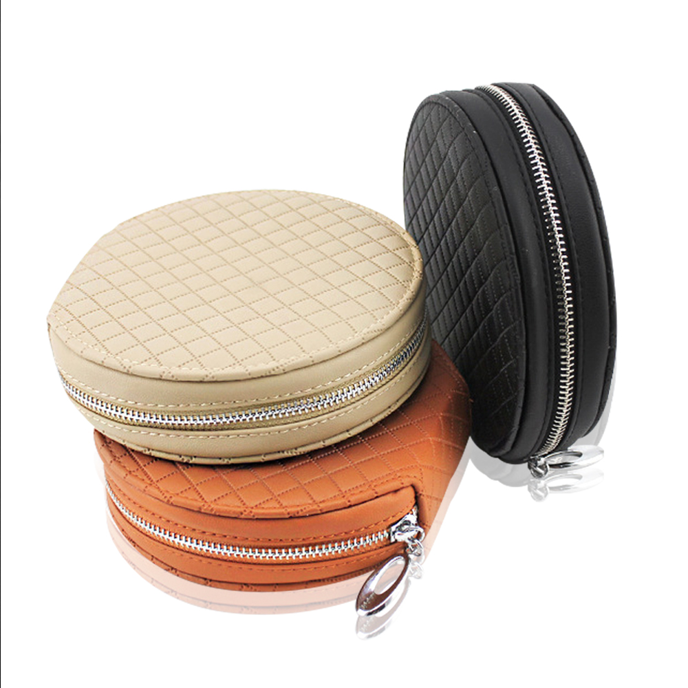 PU Leather 20 Piece Capacity Disc CD DVD Allbum Storage Media Case Bag Wallet Holder for Car Home